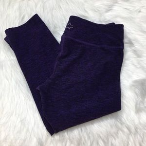 Beyond Yoga Spacedye Purple Black Crop Leggings